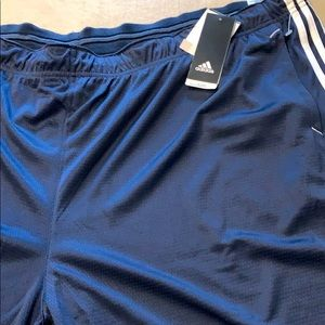 Adidas shorts 5XL big athletic blue elastic waist